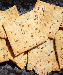 Dr. Beth's Flax Seed Crackers