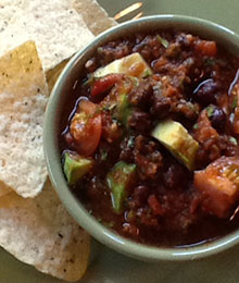 Salsa with Black Beans and Avocado