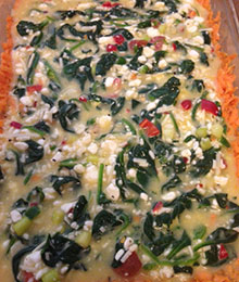 Sweet Potato Crust Spinach Egg Bake