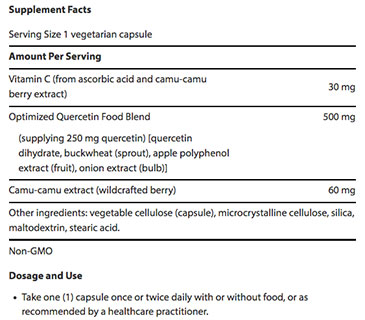 Quercetin Optimized Facts